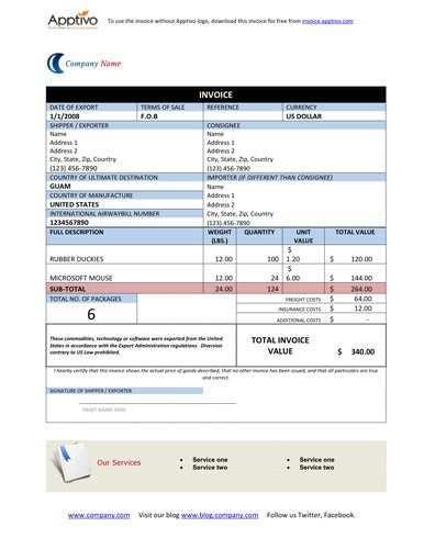 19 Blank Invoice Templates Microsoft Word Invoice Template