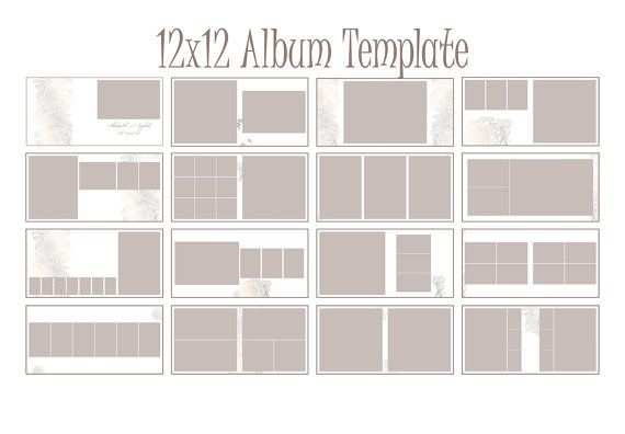 Instant Download 12x12 Square Album Indesign Template For