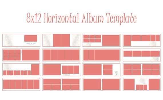 Album Template 8x12 Inches Horizontal Album Indesign Wedding