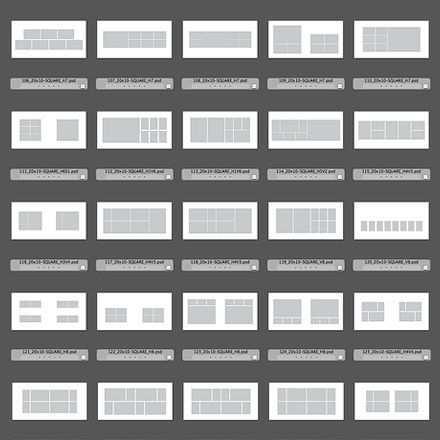 150 Square Album Design Templates For Photoshop Indesign