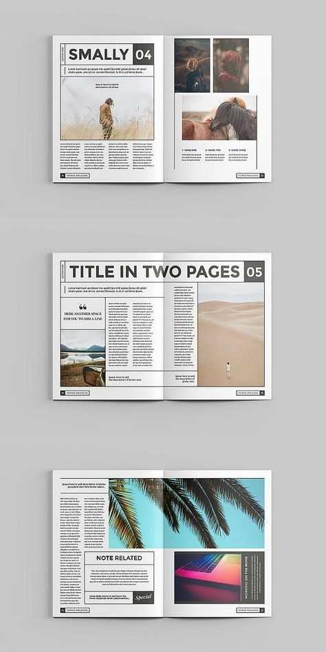 Nomad Magazine Template Magazine Layout Design Book Design