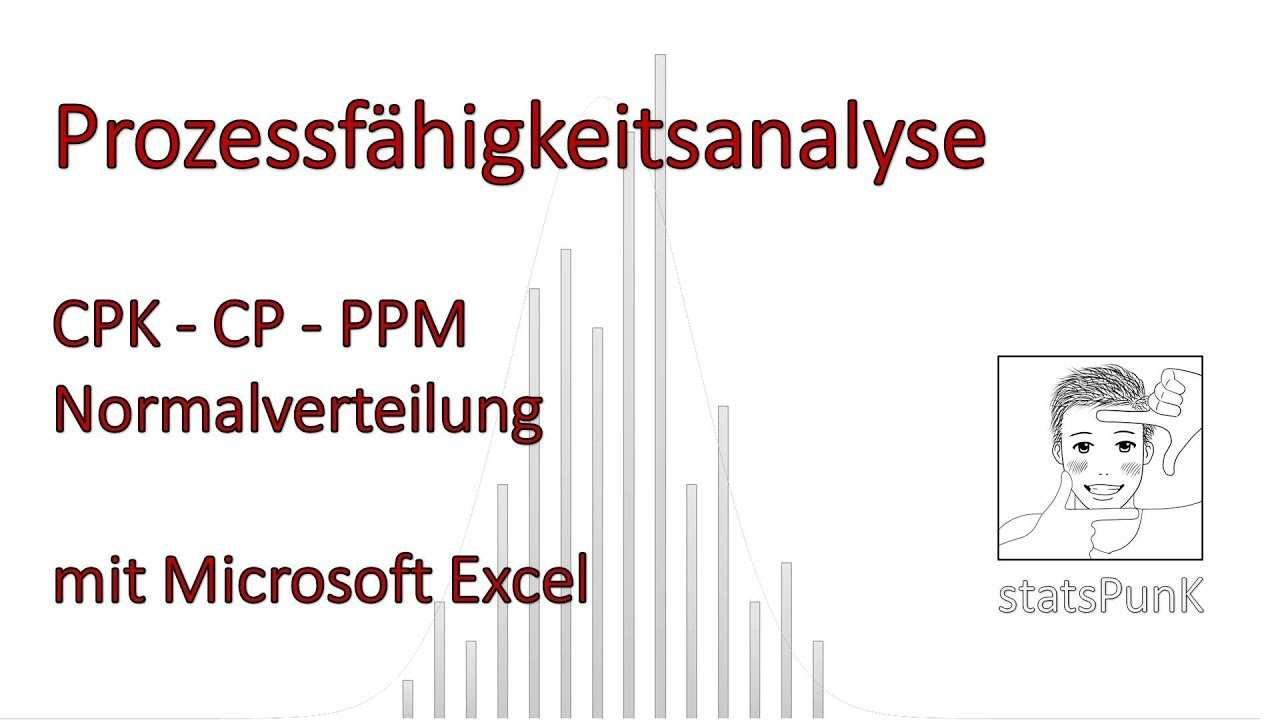 Prozessfahigkeit Cpk Cp Ppm Normalverteilung Excel Demo