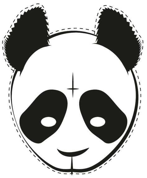 Diy Cro Masken Zum Ausdrucken Panda Maske Und Ausdrucken