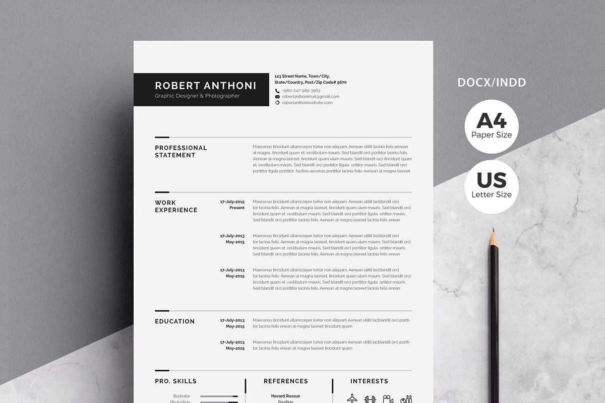 Clean Resume Cv Lebenslauf Vorlagen Microsoft Word
