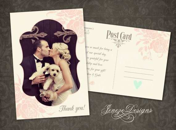 Hochzeit Danke Karte Photoshop Template Sofort Download