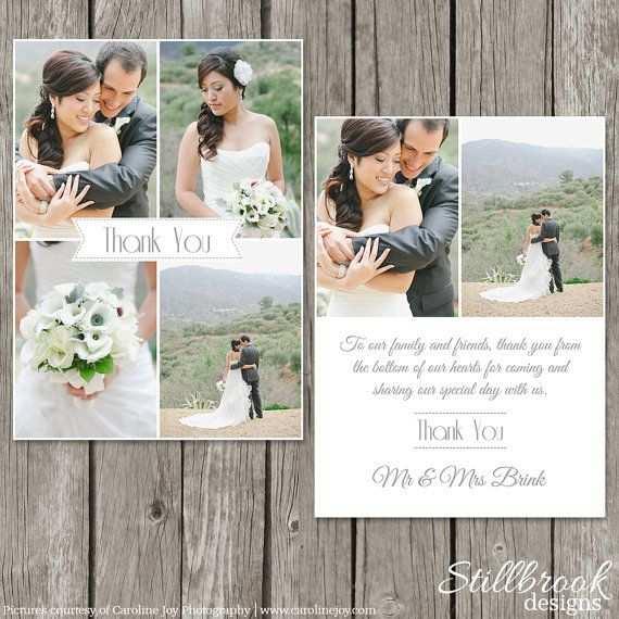 Wedding Thank You Card Template Bridesmaid Photo Thank You Note