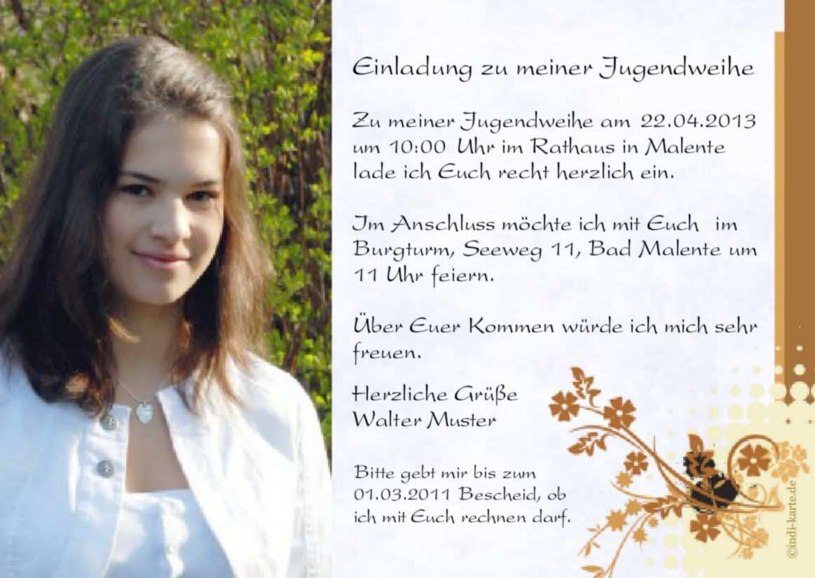 Einladungskarten Konfirmation Text Einladung Konfirmation