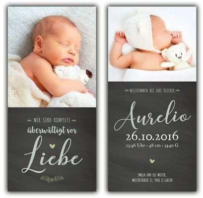 Aurelio Geburtskarte 100x210 Mm Karte Ist Auch In Anderen