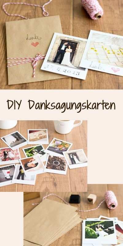 Vintage Diy Schicke Dankeskarten Fur Eure Hochzeit Basteln