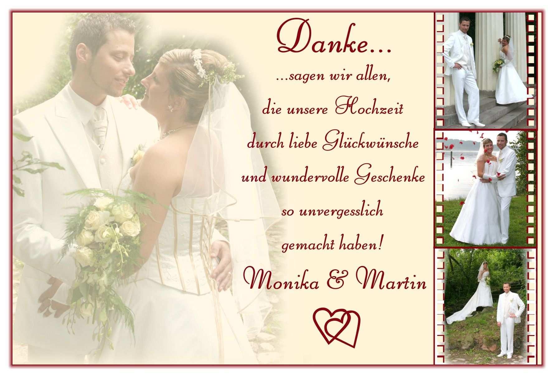 Danksagung Hochzeit Text Dankeskarte Hochzeit Hochzeit
