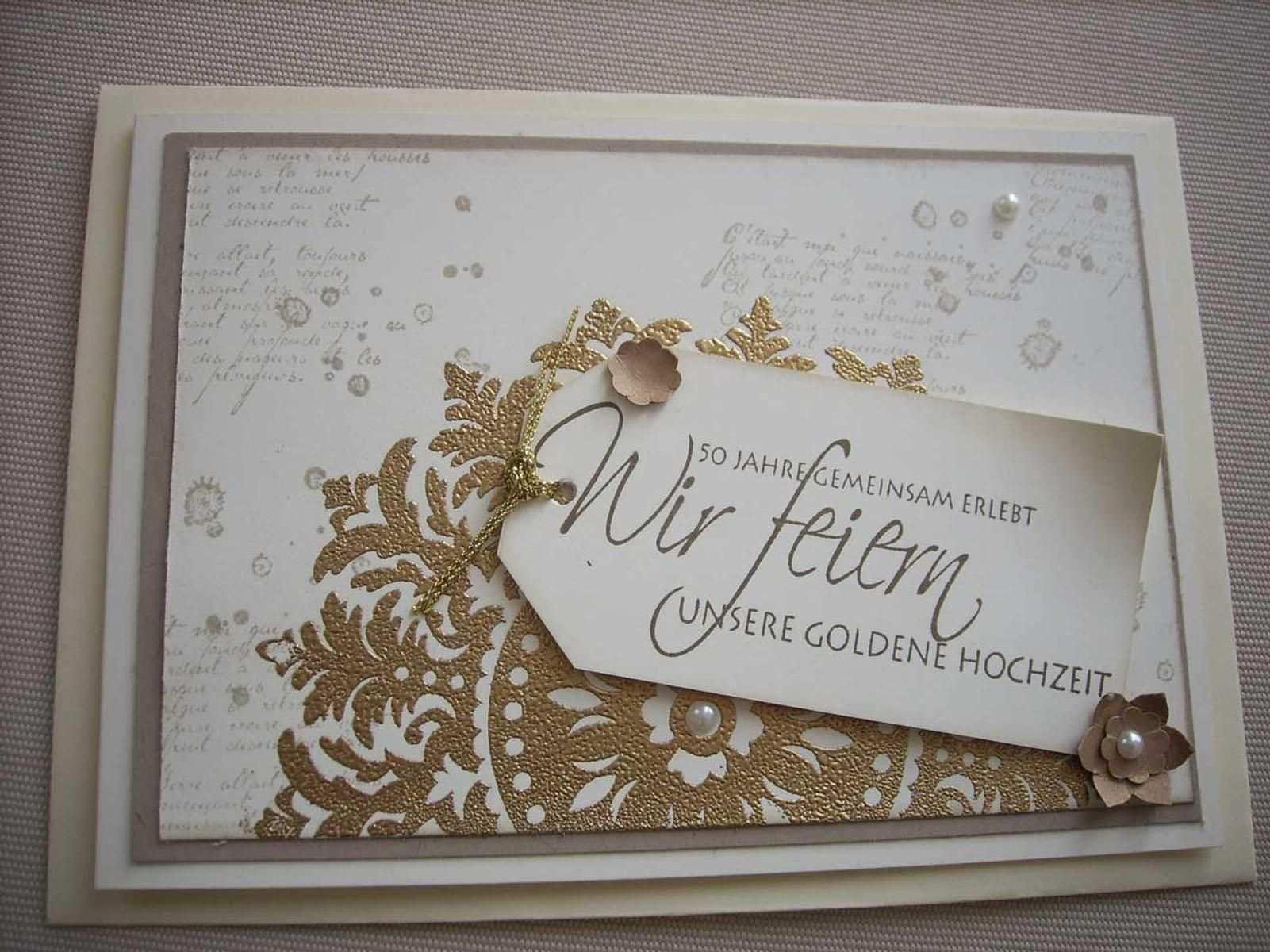 Goldene Hochzeit I H Bild Von Cordula Eicke Einladungskarten