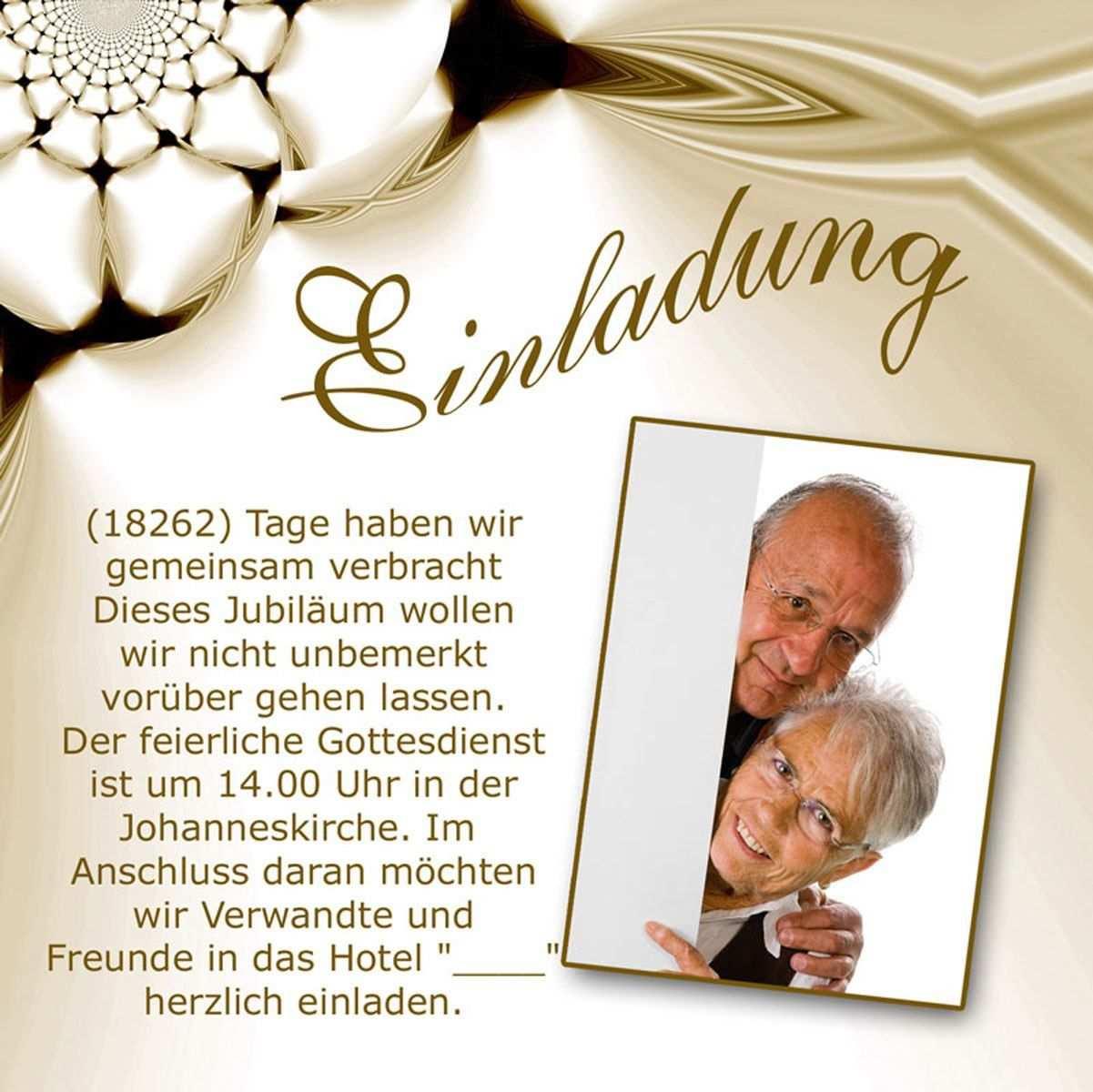 Goldene Hochzeit Einladungskarten Kostenlos Einladung Goldene