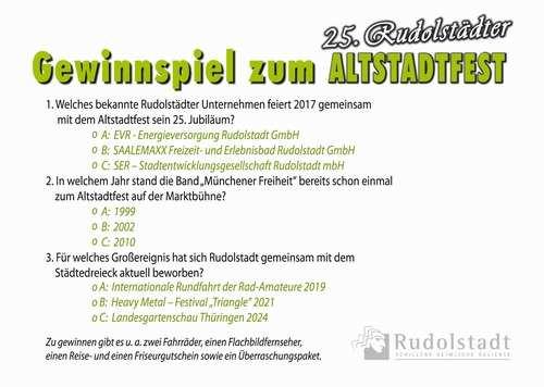 Rudolstadter Altstadtfest Gewinnspiel