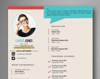 Cv Design Ms Word Lebenslauf Iwork Seiten Fortsetzen