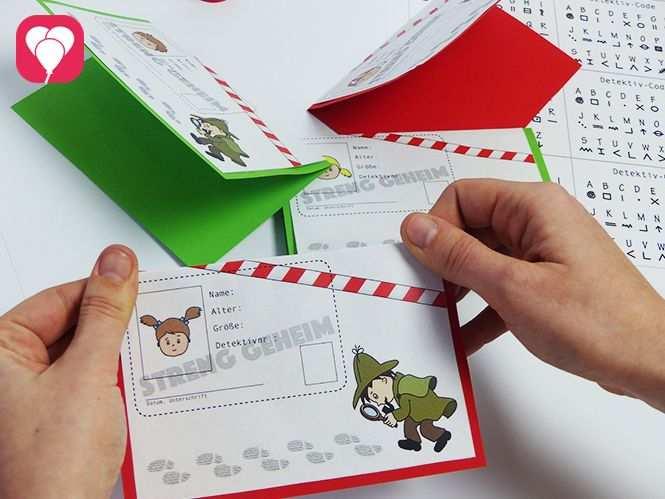 Vorlage Fur Einladungskarten Mit Detektivausweis Balloonasblog