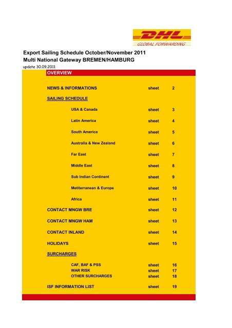 1110 N Dgf Germany Export Sailinglist Oct Nov 2011 N Dhl