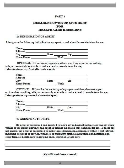 Printable Sample Power Of Attorney Template Form Power Of