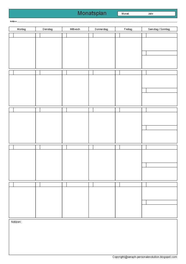 Monatsplanung Druckvorlagen Vorlagen Downloads Vorlagen