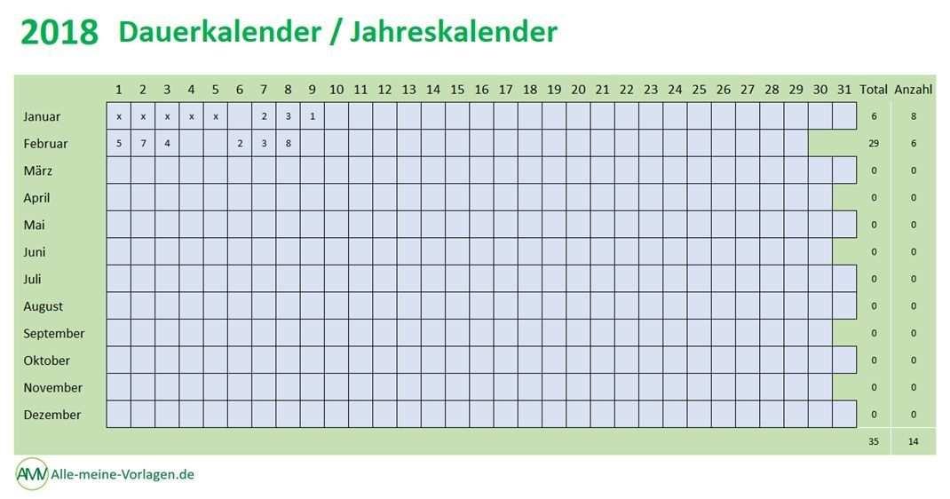 Dauerkalender Jahreskalender Ewiger Kalender Jahreskalender