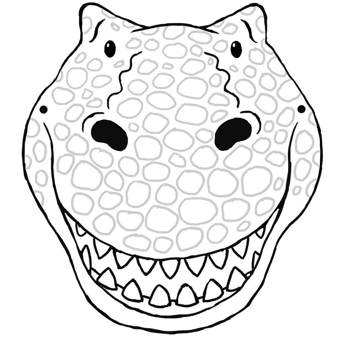 Dinosaur Mask Template Printable Masken Basteln Dinosaurier