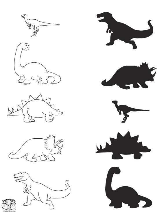 Werkblad Visueel Dino Mehr Dinosaurier Vorschule Dinosaurier
