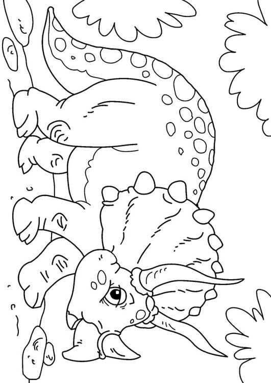 Malvorlage Dinosaurier Triceratops Bilder Fur Schule Und