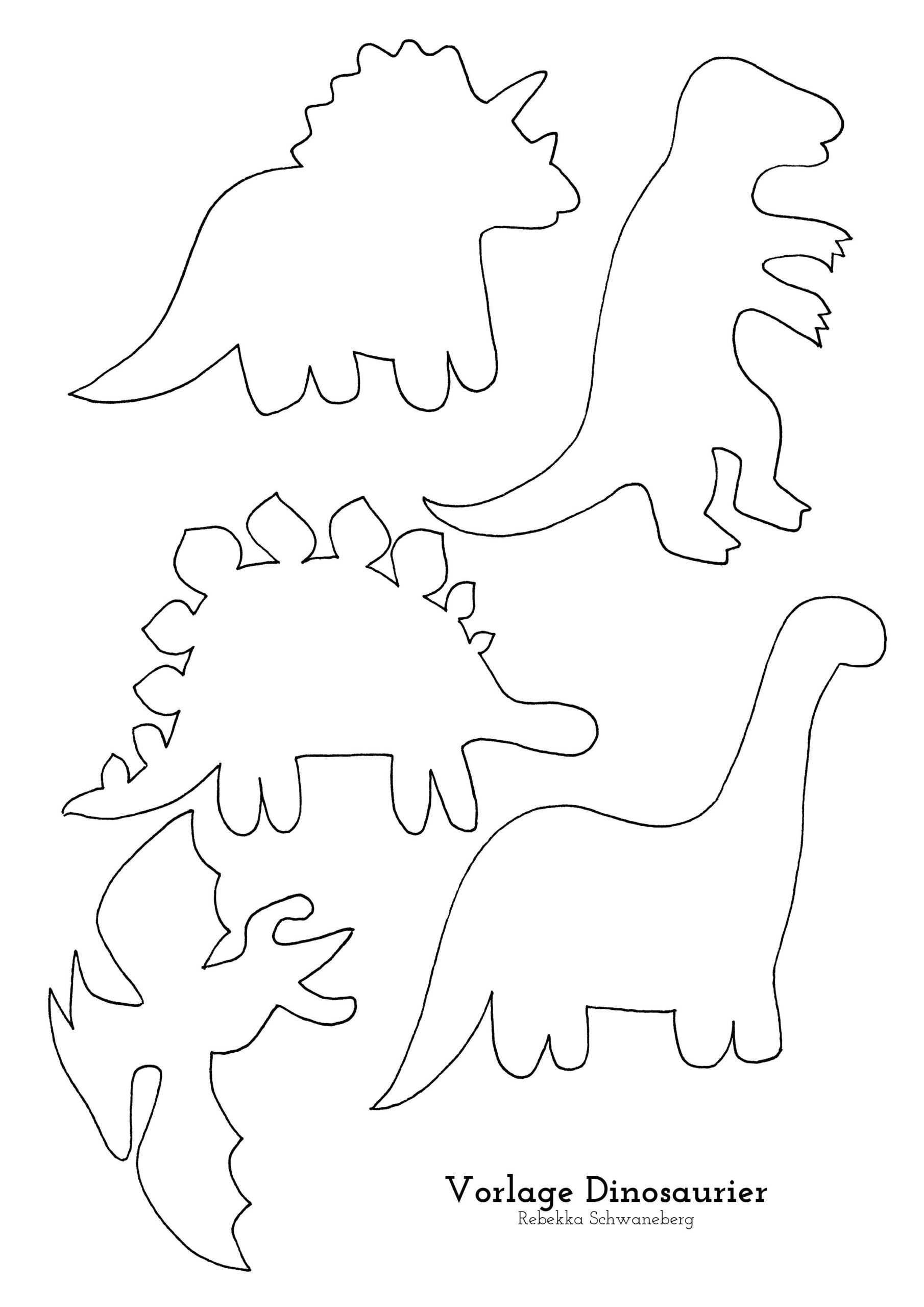 dinosaurier vorlagen zum basteln