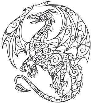 Drachen Mandala Drachen Ausmalbilder Drachen Mandala Ausmalen