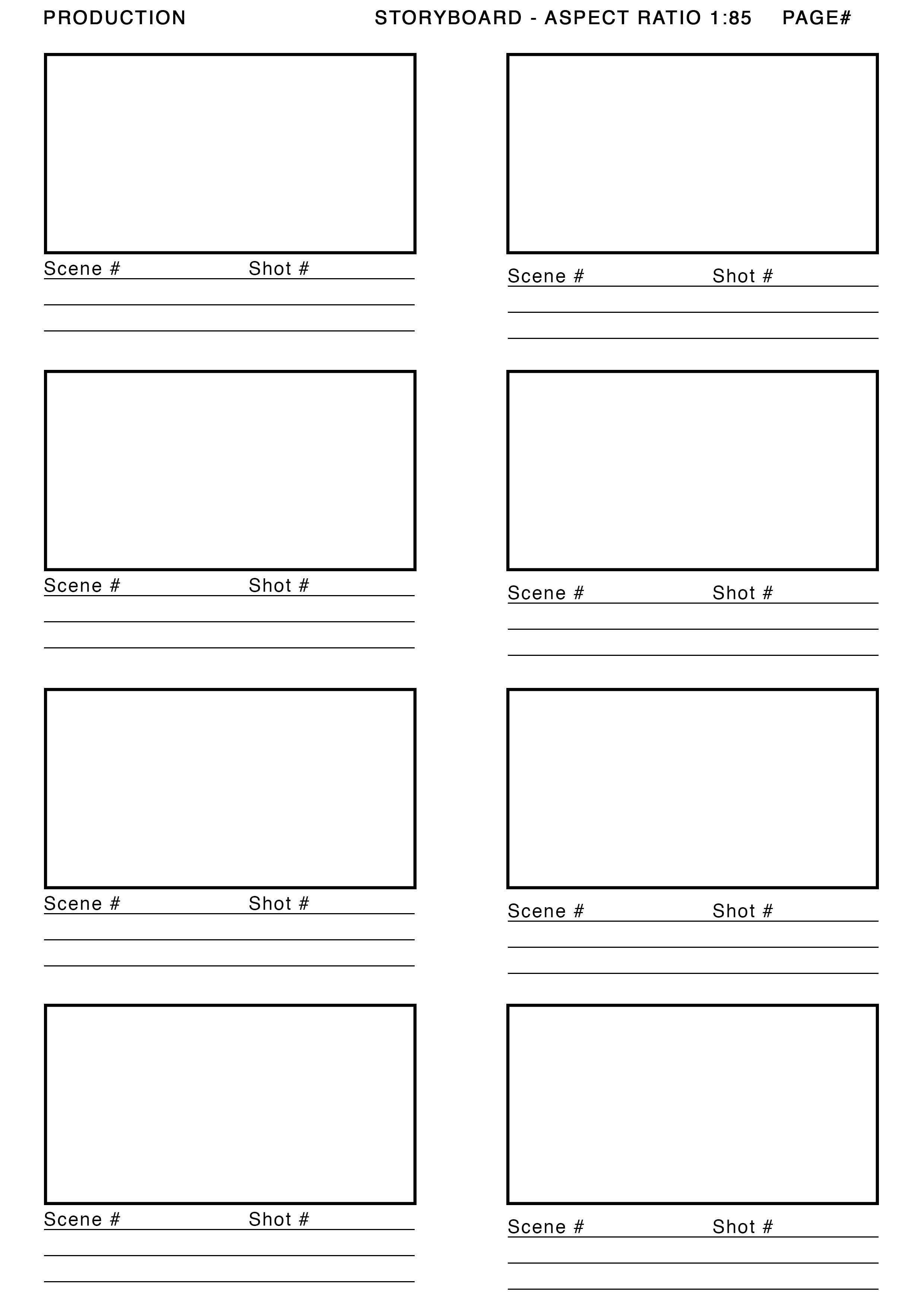 Storyboard Template Storyboard Vorlage Drehbuch Storyboard