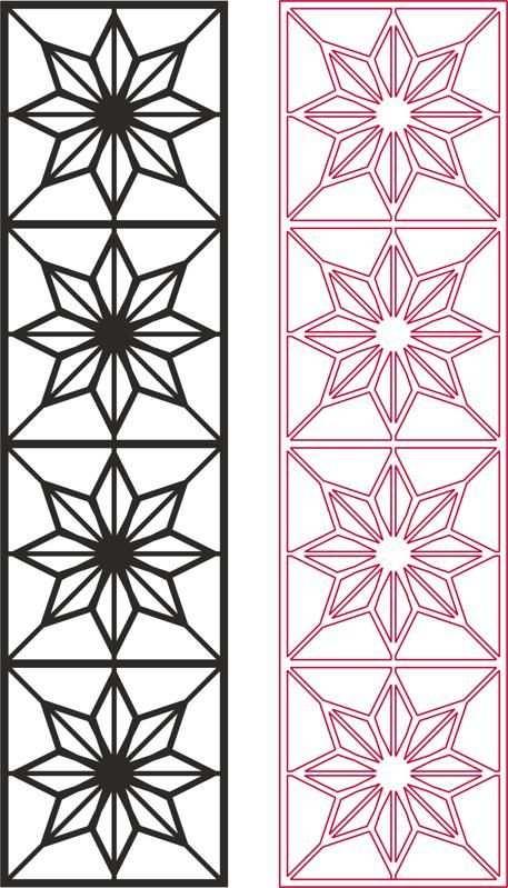 Star Pattern Vector Dxf File Free Download Desenler Cizimler Sanat Desen