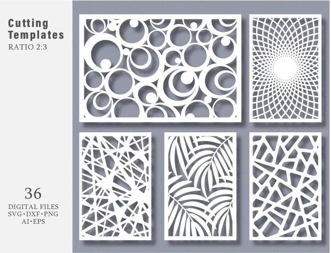 36 Svg Dxf Eps Png Bundle Geschnitten Vorlage Moderne Dekorative
