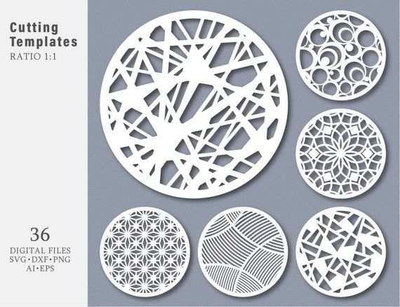 36 Svg Dxf Eps Png Bundel Geschnitten Vorlage Moderne Kreis