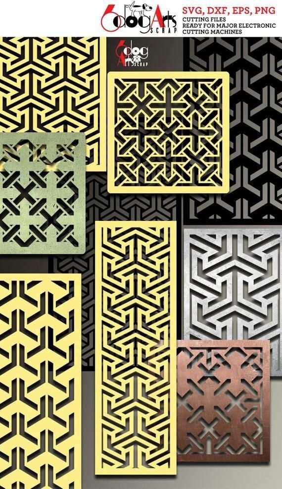 36 Geometrische Muster Grill Panel Vorlagen Digitale Schablonen