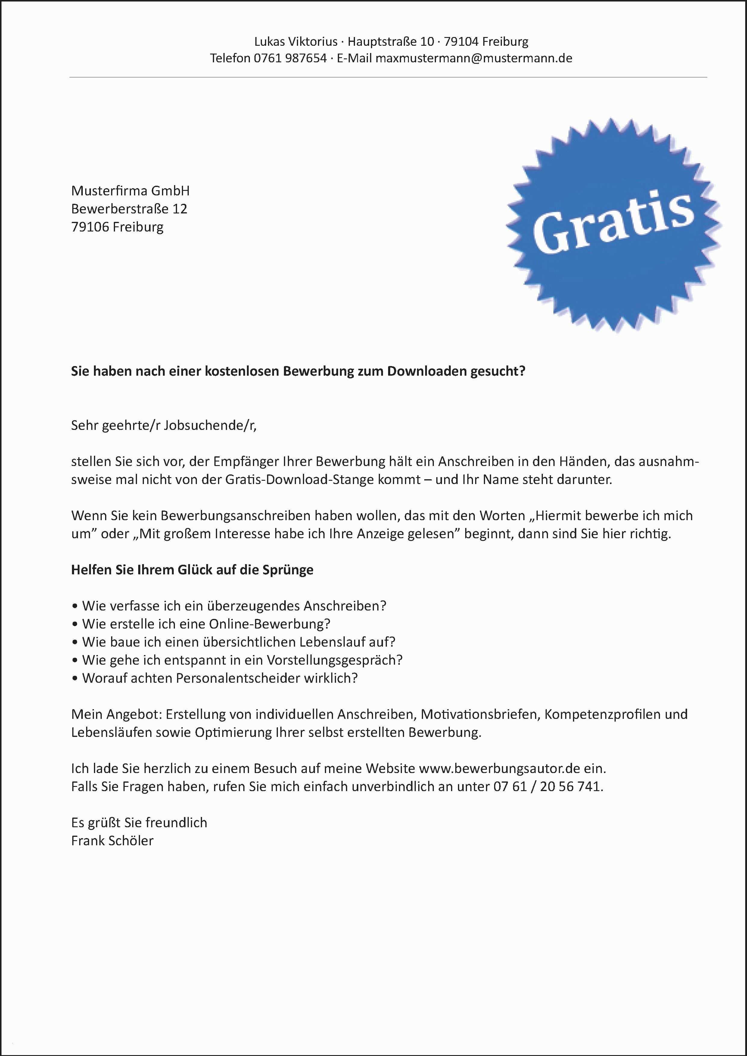 Neu Bewerbung Per Email Muster Kostenlos Briefprobe Briefformat