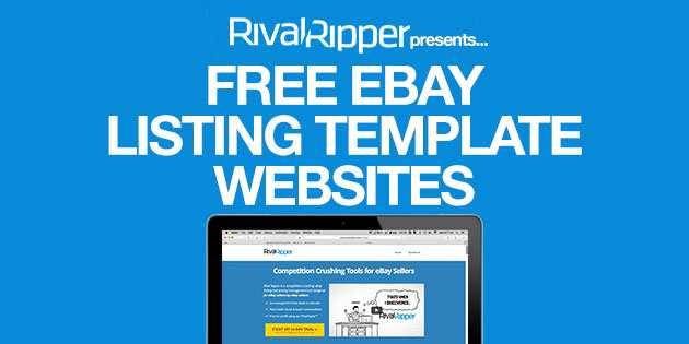 4 Free Ebay Listing Template Websites