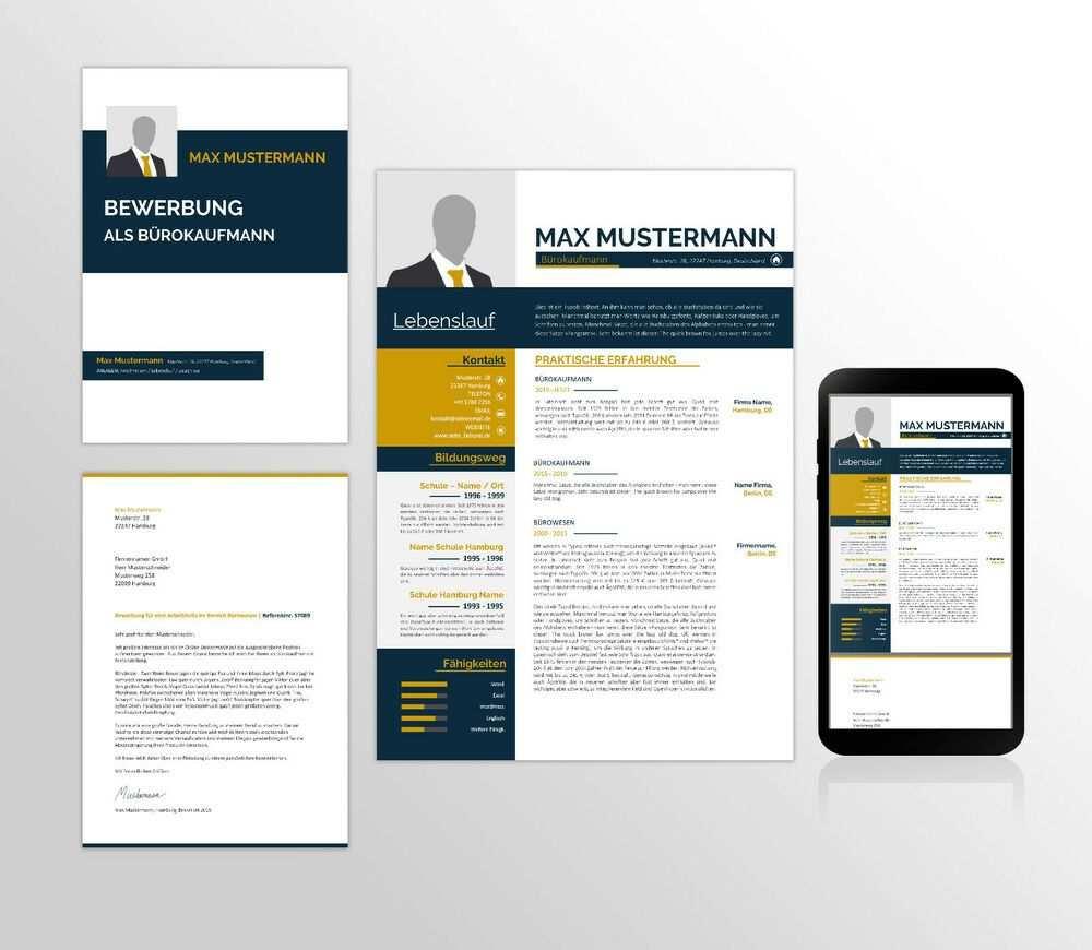 Details Zu Bewerbung Template Deckblatt Anschreiben Und