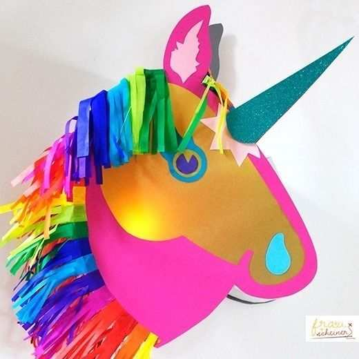 Laterne Einhorn Und Pferd Happy Unicorn Laternen Basteln