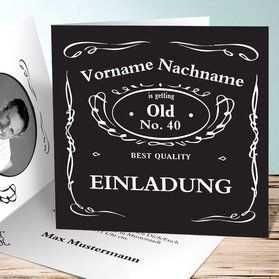 Einladungskarten 40 Geburtstag Selbst Gestalten Einladungen