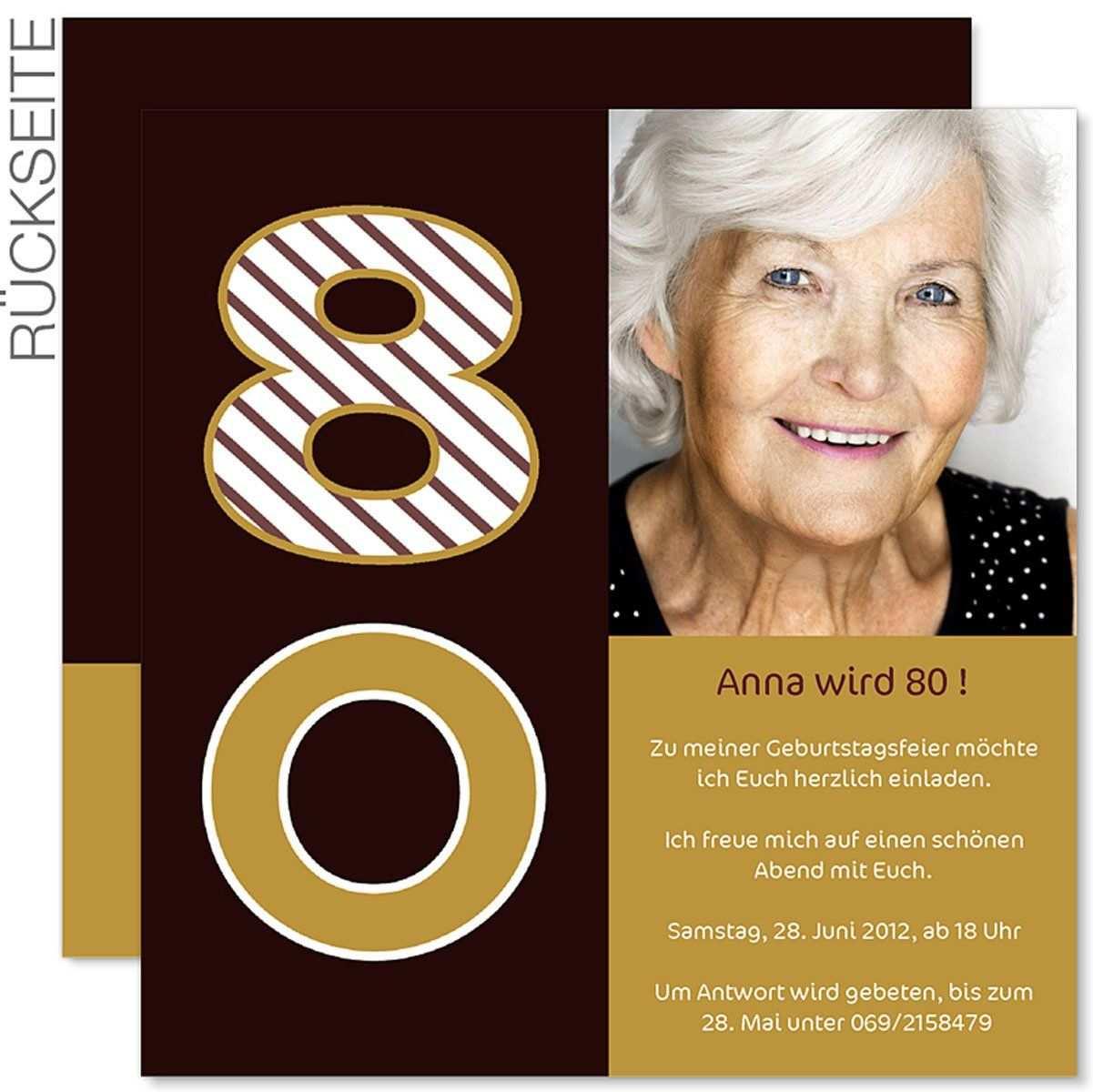 Einladung 80 Geburtstag Word Vorlage Einladung 80 Geburtstag