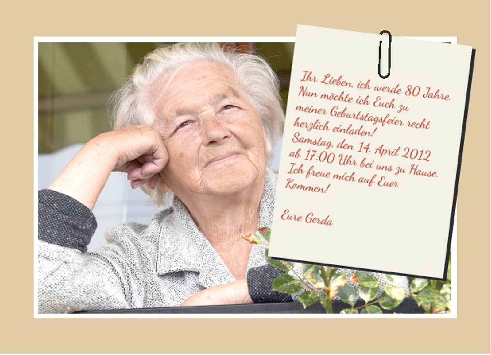 Geburtstag Einladungskarte Einladungskarten Zum 80 Geburtstag