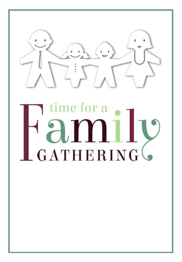 Zeit Fur Eine Familienzusammenkunft Kostenlose Druckbare