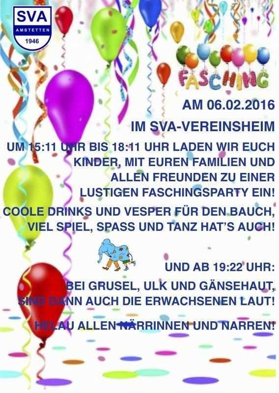 Einladung Fasching Kindergeburtstag Elegant Sva Event Einladung