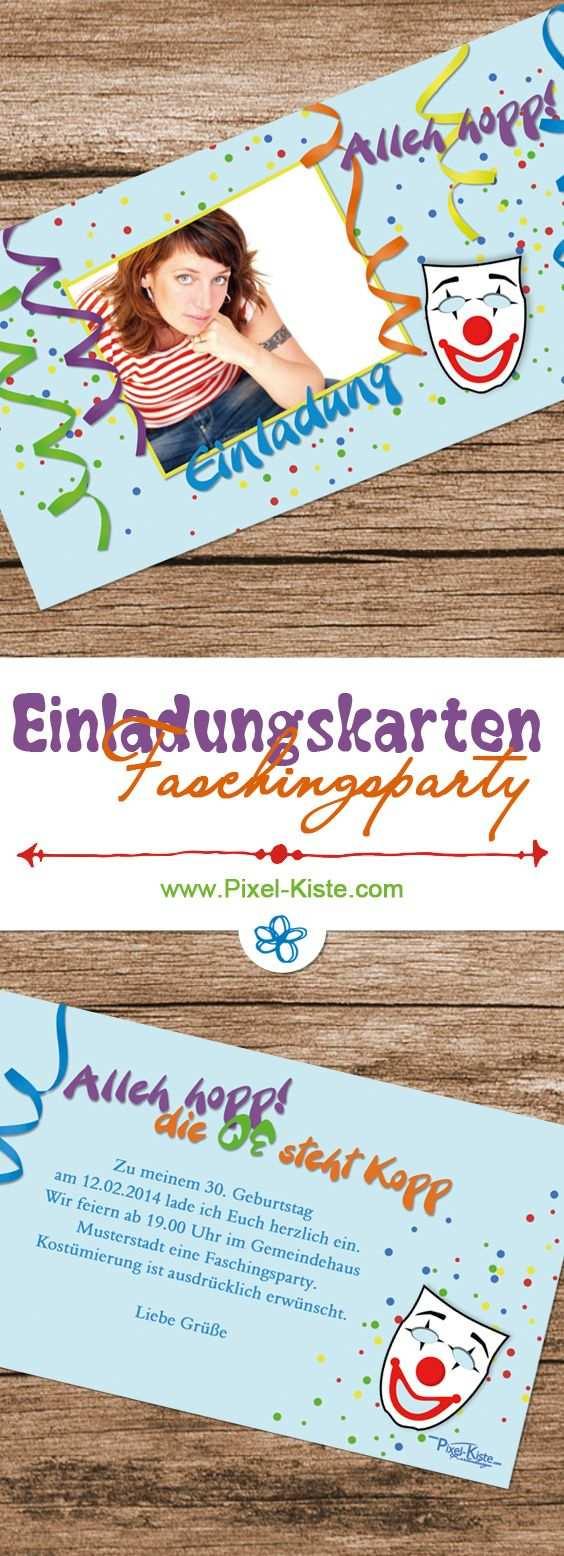 Einladungskarten Karneval Fastnacht Fasching Faschingsparty