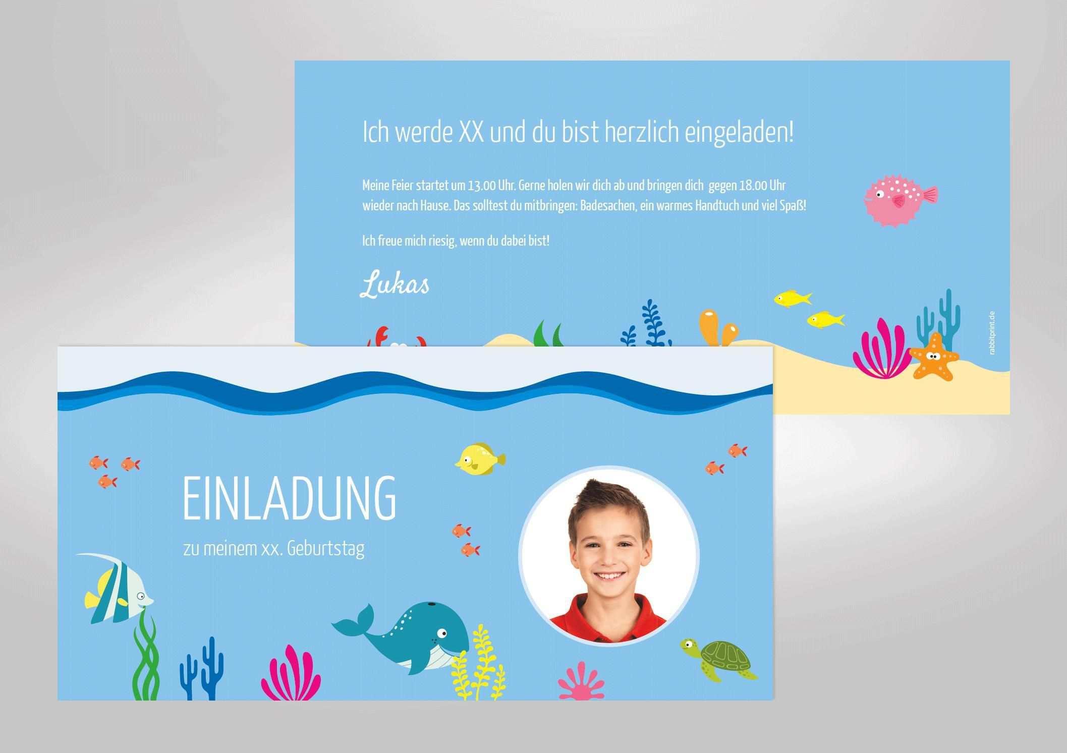 Einladung Schwimmbad Geburtstag In 2020 Einladung