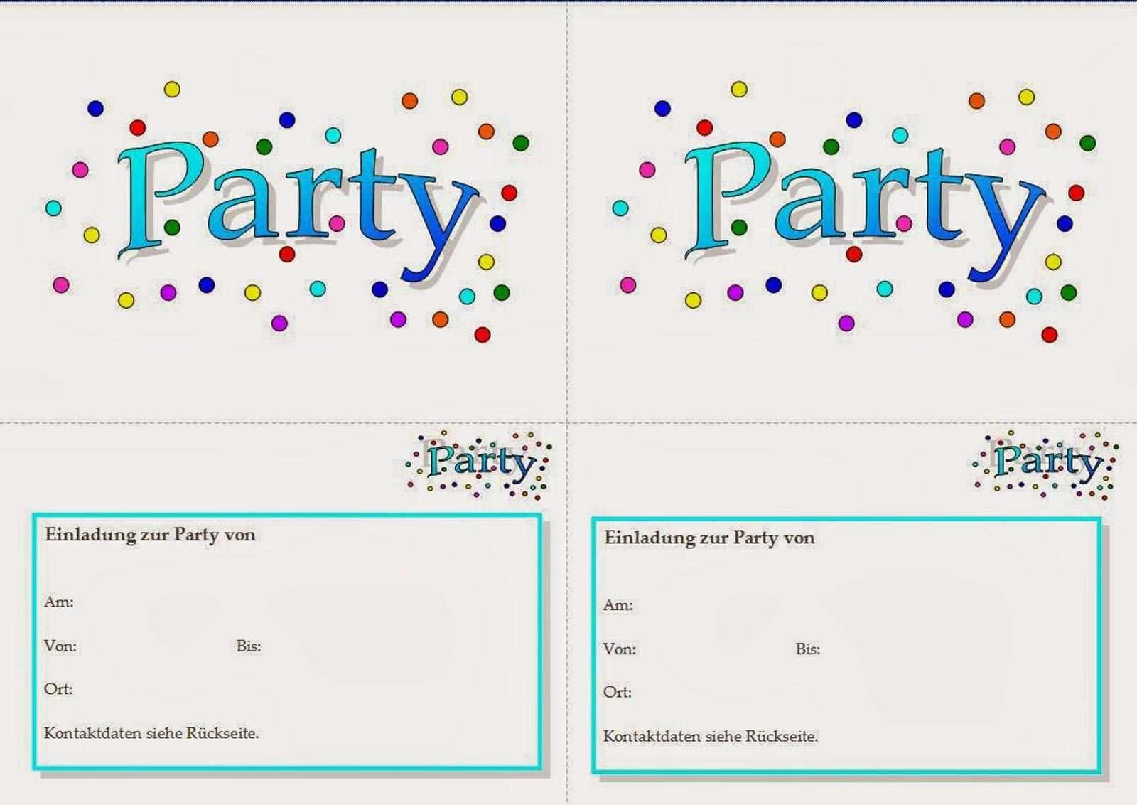 Einladungskarten Geburtstag Kinder