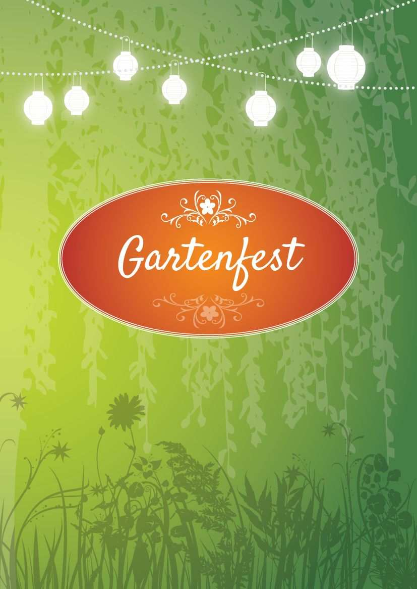Einladung Zum Gartenfest Schone Einladungskarte In Grun Mit