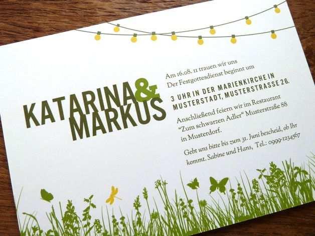 Gartenparty Hochzeitseinladung Hochzeitseinladung Gartenparty