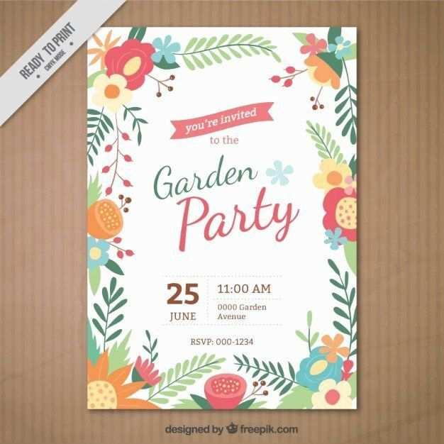 Vorlage Fur Eine Gartenparty Einladung Schone Gartenparty