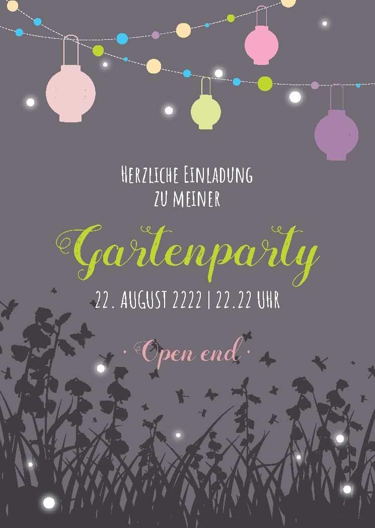 Gartenparty Feiern Schone Einladung Zum Feiern Im Garten