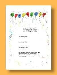 Vorlage Einladung Kindergeburtstag Christin Klemp Vorlage